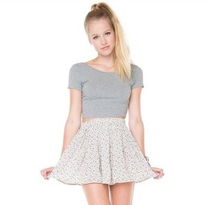 Brandy Melville Floral Heather Skirt